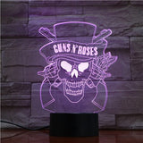 Lampe 3D Guns N' Roses - | Maneon rose