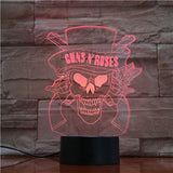 Lampe 3D Guns N' Roses - | Maneon rouge