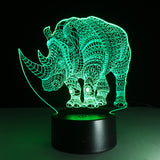 Led 3D | Rhinocéros - Maneon