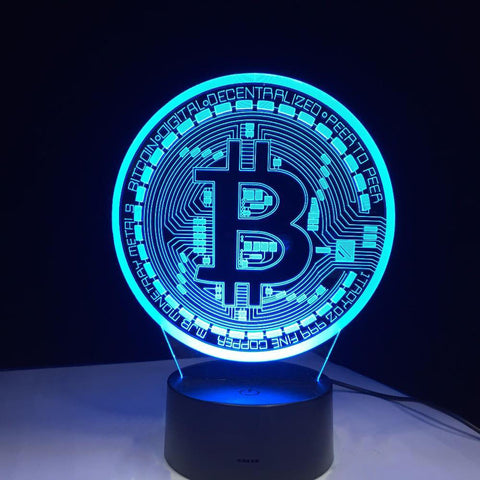 Lampe 3D | Bitcoin - Maneon