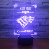 lampe led | Stark - Game of Thrones - Maneon