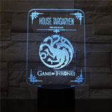 led 3D | Targaryen - Game of Thrones - Maneon