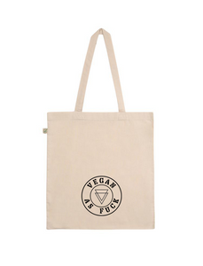 'Vegan as fuck' tote bag
