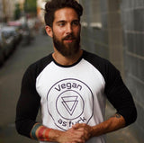 'Vegan As F*ck' raglan shirt- unisex