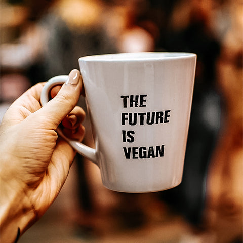 'The future is vegan' mug