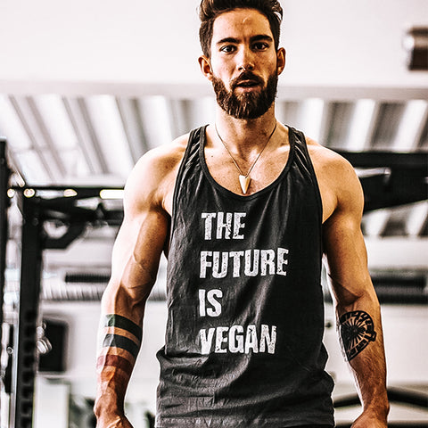 'The Future Is Vegan' vest - Men's