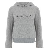 'Be cool not cruel...' cropped hoodie