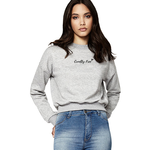 'Cruelty free' cropped sweater