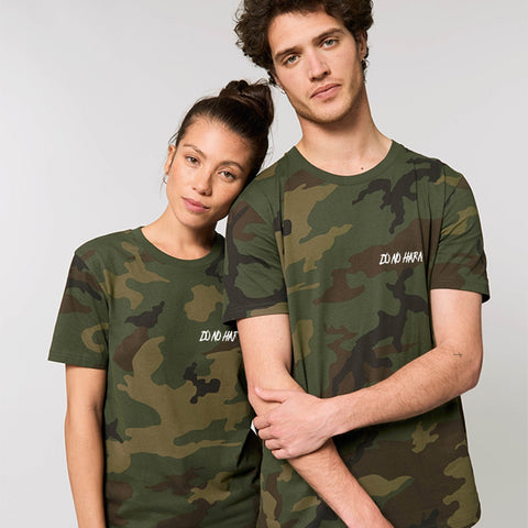 'Do No Harm' camo tee