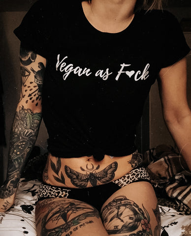 'Vegan as f*ck' tee