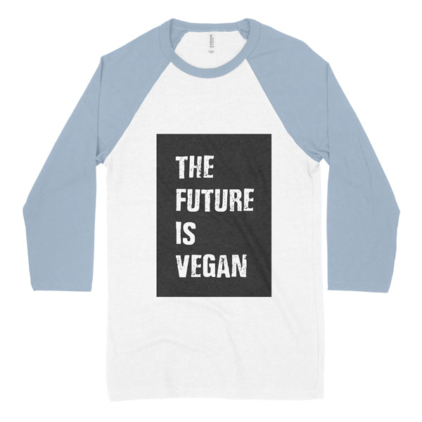 The Future Is Vegan colour block baseball shirt - youth