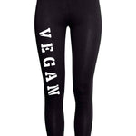 'Vegan' thigh print leggings