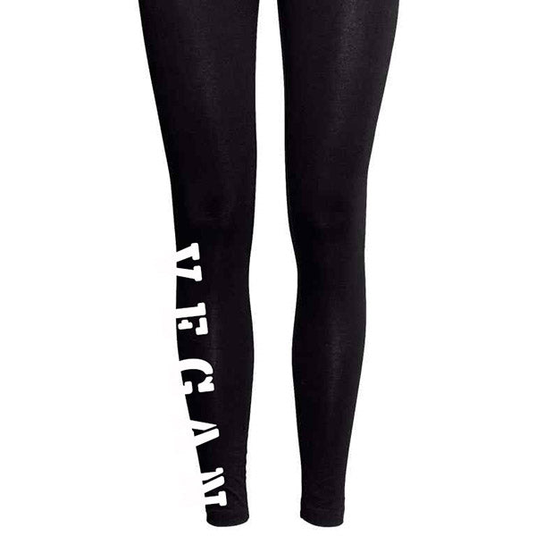 'Vegan' calf print leggings