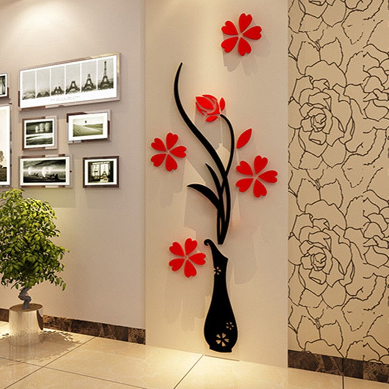 NEW 3D Acrylic Wall Sticker
