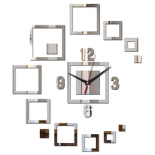 Load image into Gallery viewer, Modern Sun Decorative Mirror Wall Clock