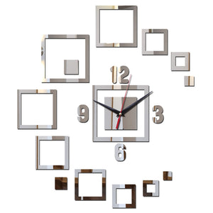 Modern Sun Decorative Mirror Wall Clock