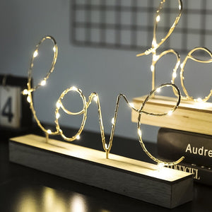 Love Table Decoration with Lights
