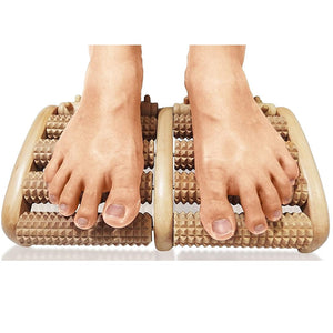 Wooden Dual Feet Massage Roller