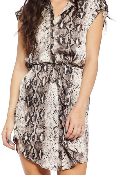 fab'rik - Clare Snakeskin Button Up Dress image thumbnail