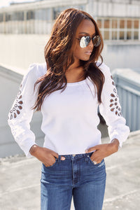 Lennon Cut Out Sleeve Knit Top