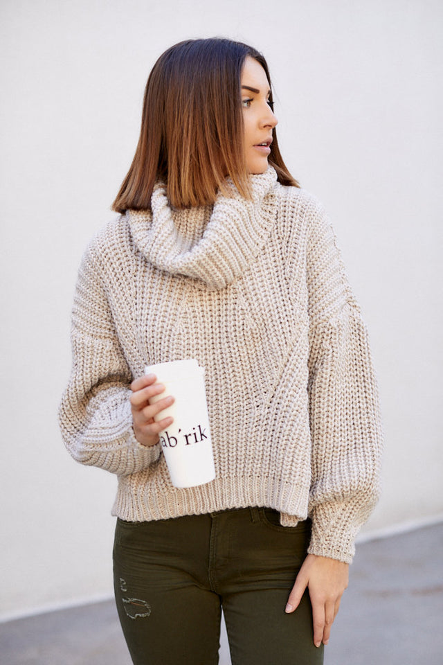 Rochester Chunky Cowl Neck Sweater