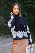 Load image into Gallery viewer, Mairie Lace Detail Sweater