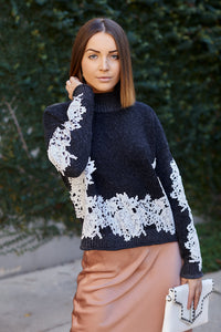 Mairie Lace Detail Sweater