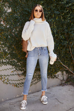 Load image into Gallery viewer, Margaret Open Back Turtle Neck Sweater