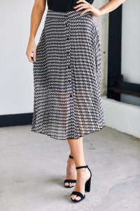 Tate Houndstooth Print Skirt