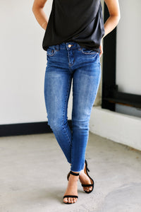 Emma Mid Rise Skinny Jeans