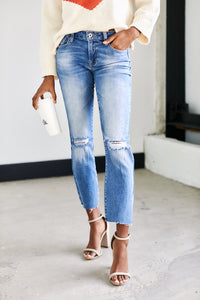 Chicago Straight Leg Distressed Denim