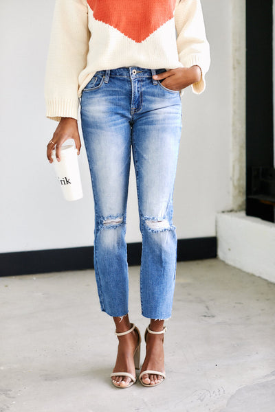 fab'rik - Chicago Straight Leg Distressed Denim image thumbnail
