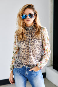 Auden Mixed Print Long Sleeve Top