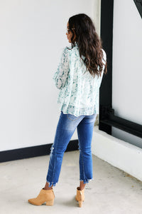 Remy High Neck Snake Print Blouse