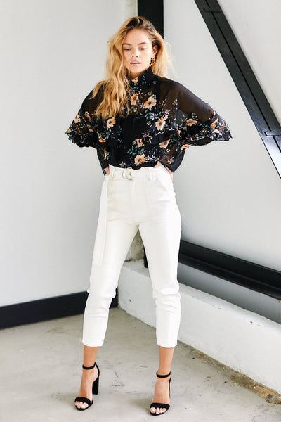 fab'rik - Luisa High Neck Floral Top image thumbnail