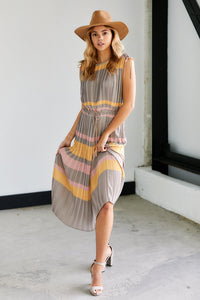 Cleo Striped Maxi Dress