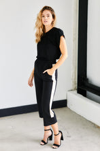 Load image into Gallery viewer, Millie Track Stripe Culotte Pants