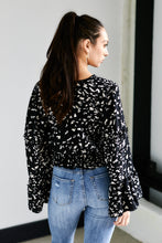 Load image into Gallery viewer, Jules Bell Sleeve Animal Print Top