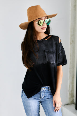 Clyde Distressed Detail Top