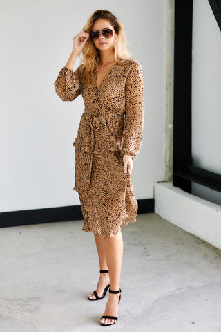 Campbell Cheetah Print Midi Dress