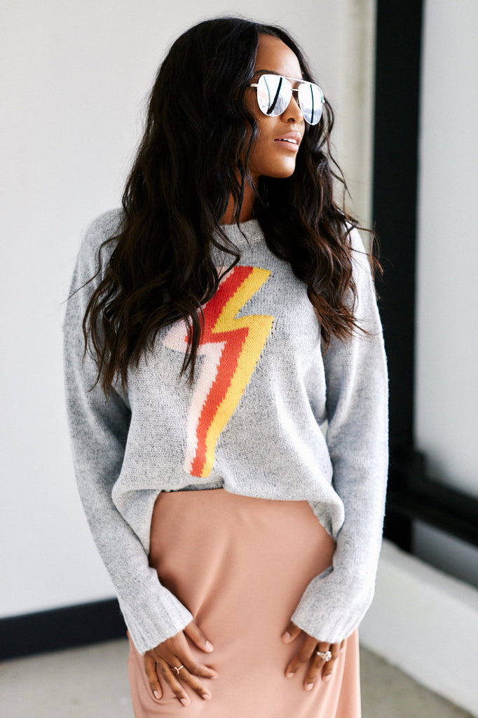 Bowie Lightning Bolt Sweater