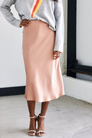 Ridley Satin Midi Skirt
