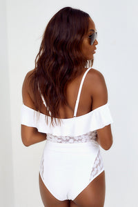 Tinsley Off-The-Shoulder Mesh Outline One Piece