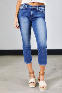 Sivan Cropped Straight Denim