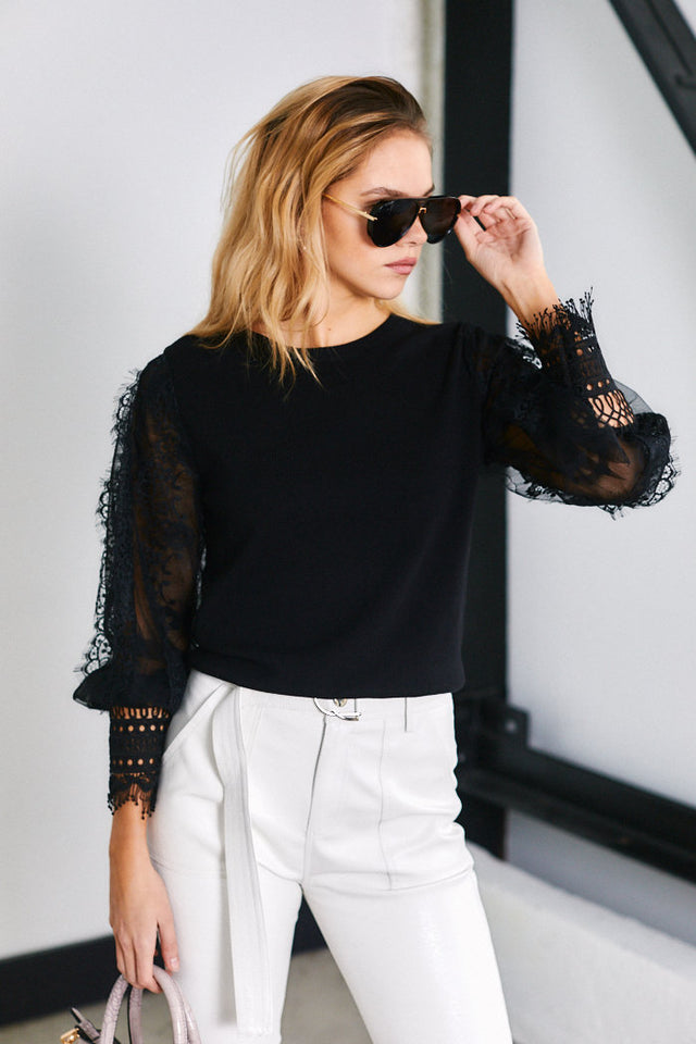Montana Lace Detail Blouse