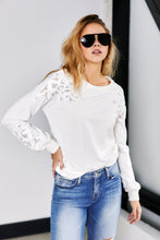Load image into Gallery viewer, Maxwell Lace Cut Out Sweatshirt