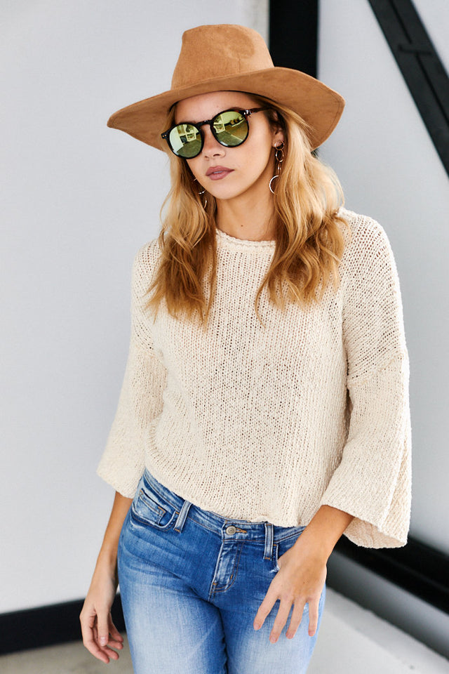 Hadley 3/4 Sleeve Knit Sweater