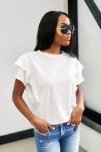 Load image into Gallery viewer, Benni Ruffle Sleeve Tee