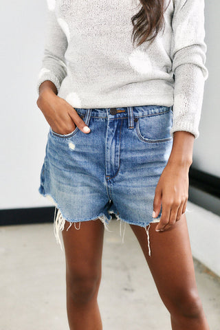 PreOrder Blank NYC Come Back Cut Off Denim Shorts