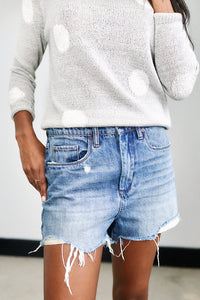 Blank NYC Come Back Cut Off Denim Shorts